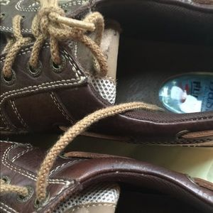 Bass Shoes - BASS MENS BROWN & TAN TIE UPS LOAFERS SIZE 10.5